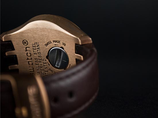 product photography watch from behind