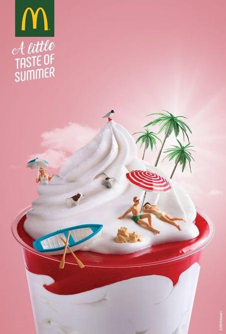 photography manipulation ice cream
