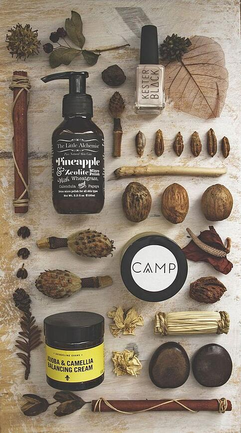 flat lays photography natural products