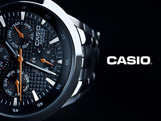 Macro shot of Casio watch