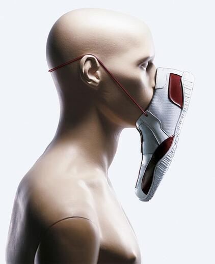unusual product image shoe face
