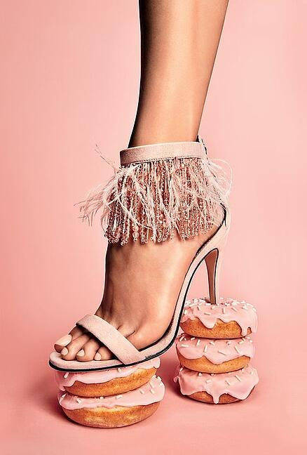 unusual product photography donut heels