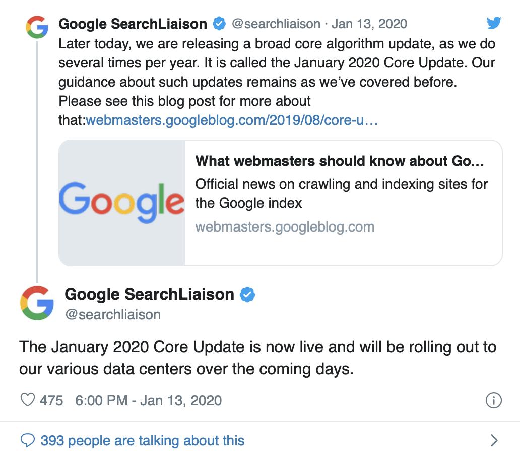 google update januar 2020