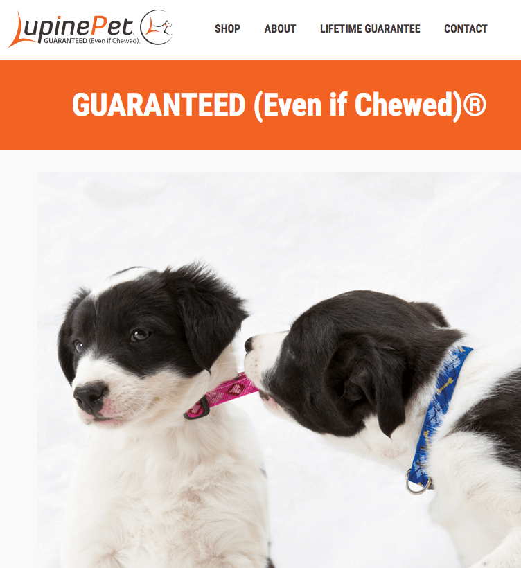 Our Guarantee 100 Lifetime, Even if Chewed - Lupine Pet 2018-08-31 11-55-42