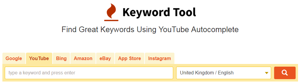 Keyword Tool for YouTube