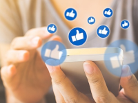 smartphone getting many facebook likes
