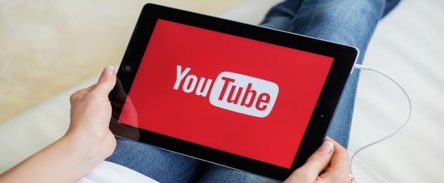 youtube on a tablet